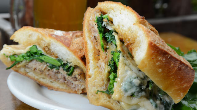 PHOTO: The Porchetta sandwich is served at Sauce, in New York City, Oct. 3, 2012.