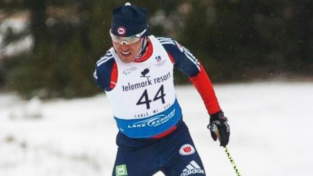 VIDEO: After losing one arm, Omar Bermejo is competing for gold in para-Nordic skiing.