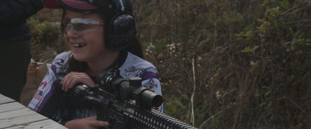 PHOTO: Shyanne Roberts of New Jersey has gained sponsors that provide her with everything from ammunition to firearms.