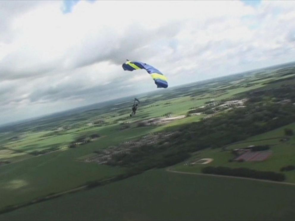 PHOTO: Kevin Burkhart -- owner of Skydive Twin Cities in Baldwin, Minnesota -- began his attempt to complete 300 skydive jumps in 24 hours on June 15, 2016.