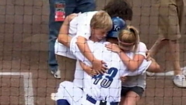 VIDEO: Staff Sgt. Rik Zortmann surprised his son at minor league baseball game.