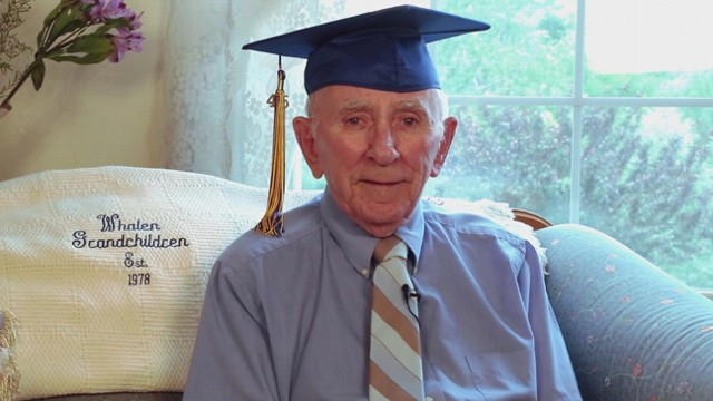 VIDEO: WWII Vet Attends High School Graduation