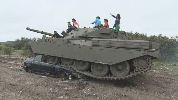 At DriveTanks.com, located on an 18,000-acre ranch in Uvalde, Texas, people can take control of real tanks.