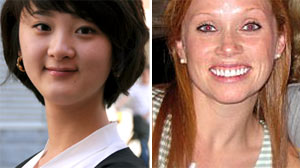 PHOTO Tara Tang, 25, is shown left./Tara Walsh, 29, is shown, right.