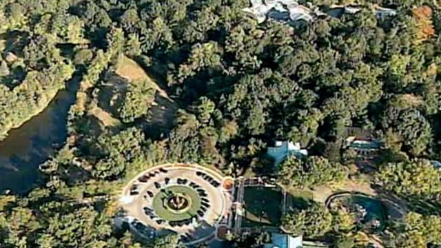 PHOTO: An aerial view of the Tiger Mountain exhibit is seen at the Bronx Zoo in New York.