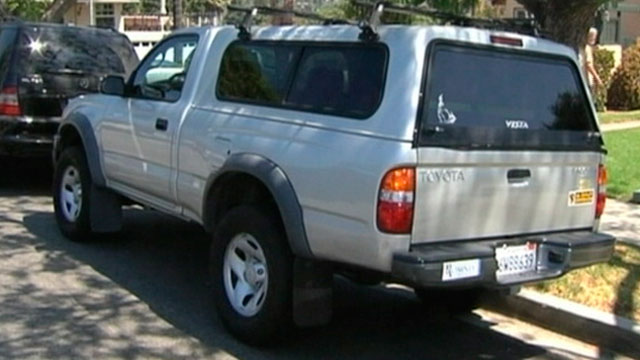 "PHOTO: A string of thefts of Toyota Tacomas, seen here, has led authorities in Southern California to suspect that a ring with a ""master key"" is behind them."
