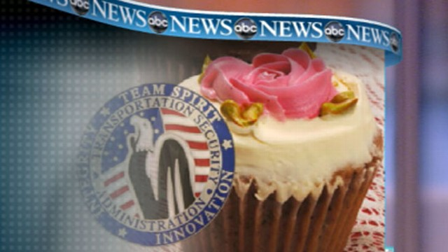 VIDEO: Woman was told the icing of the cupcake violated the no gel policy on flights.