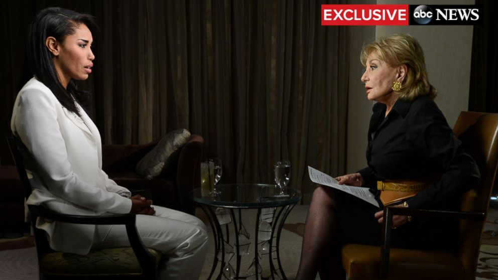 PHOTO: Barbara Walters interviews V. Stiviano, May 2, 2014.