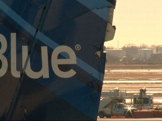 Watch: Jet Blue Plane Clipped at JFK Taxiway