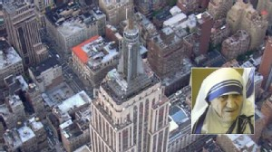 Video: Empire State building refused to honor Mother Theresa.