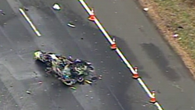 Plane crashes onto busy NJ highway