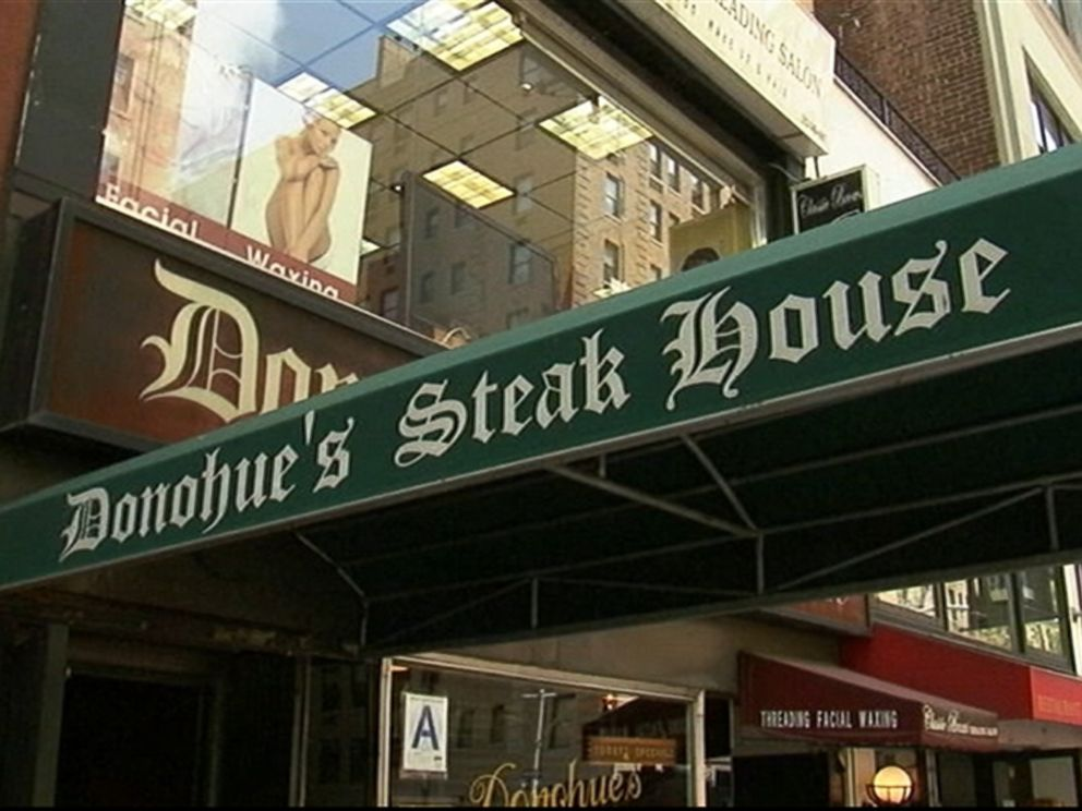PHOTO: Robert Ellsworths favorite meal from the unassuming restaurant, Donohues Steak House, was an open-faced grilled cheese sandwich with bacon.