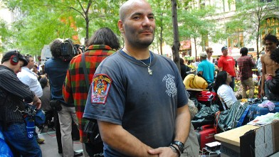 "PHOTO:Paul Isaac speaks to Abcnews.com at ""Occupy Wall Street"",  Zuccotti Park, New York, NY, Oct. 11, 2011."