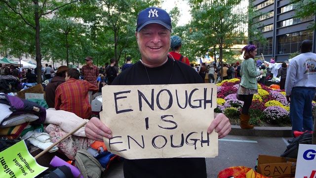 "PHOTO: Stephen Winkels speaks to Abcnews.com at ""Occupy Wall Street"", Zuccotti Park, New York, NY, Oct. 11, 2011."