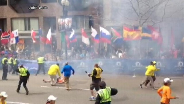 VIDEO: John Walls was in the viewing stands when the second bomb went off on Boylston Street.