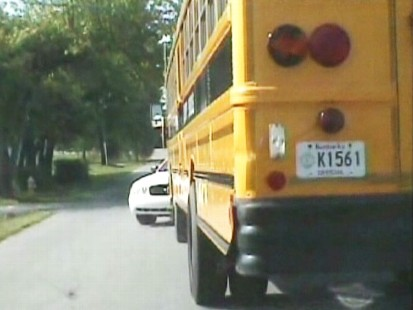 Video: Dashcam video shows police chasing stolen school bus.