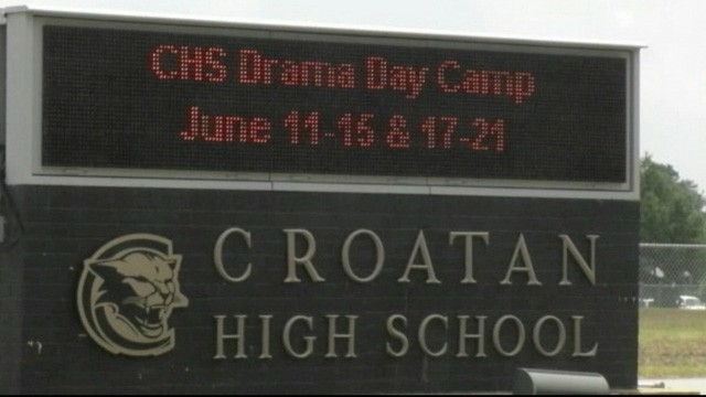 PHOTO: Croatan High School had yearbooks defaced, resulting in some students not having their picture shown.