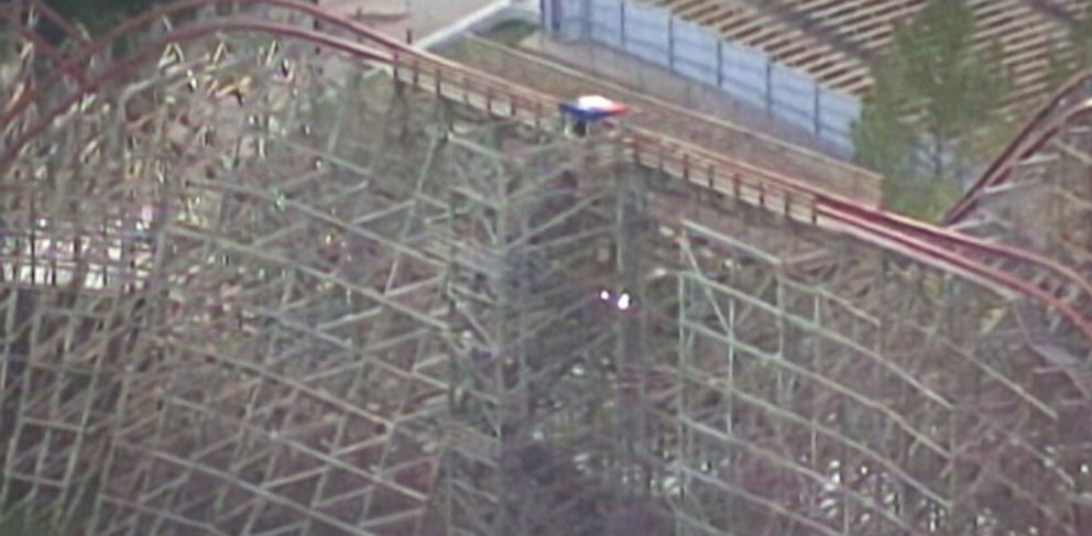 PHOTO: A woman has died after an accident on a rollercoaster at the Six Flags Over Texas amusement park in Arlington, Texas on July 19, 2013.