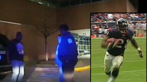 VIDEO: Ryan Moats stopped by police at hospital