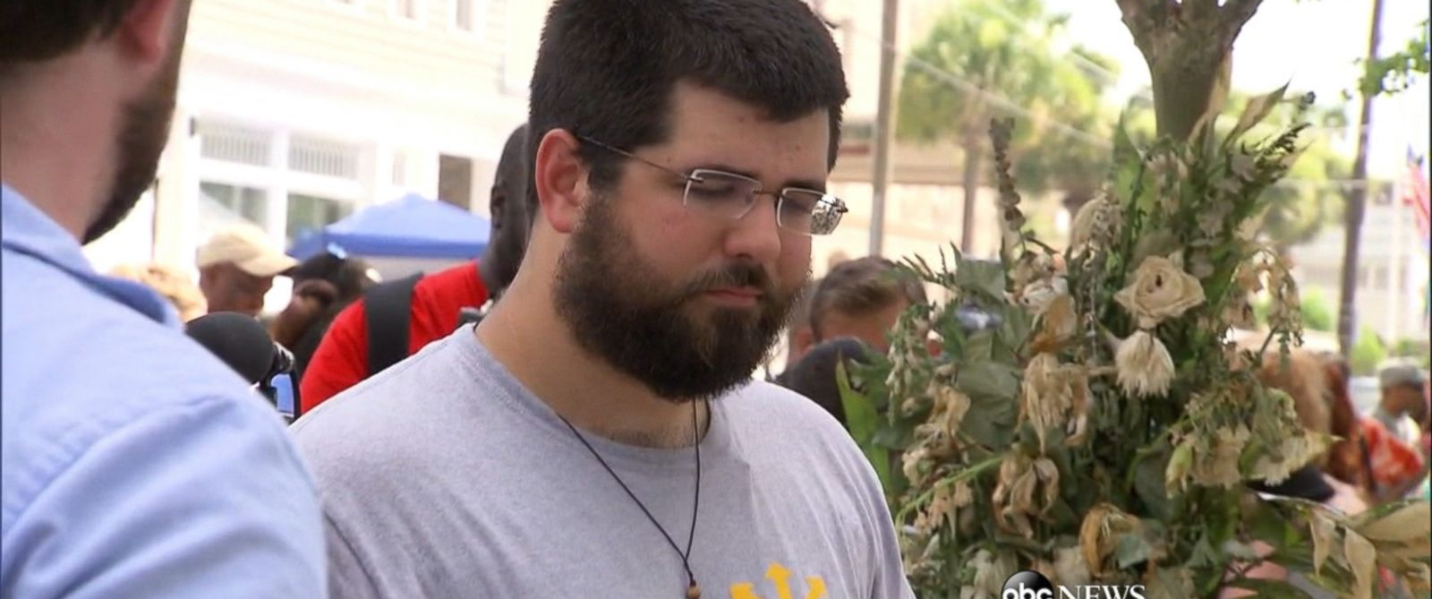 Matt Heimbach is shown here in Charleston, South Carolina, in the wake of the church shooting in which nine people were killed.