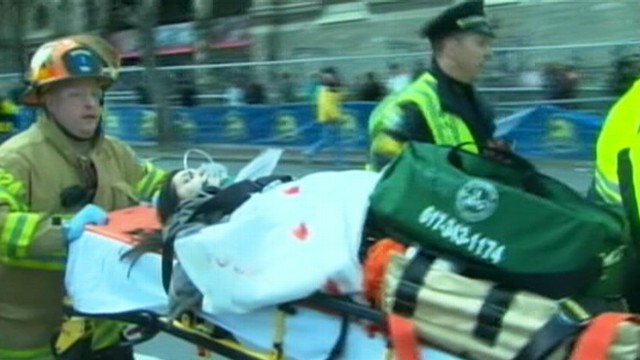 VIDEO: Rachel Sibley says chaos resulted from explosions at the annual Boston marathon.