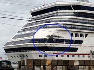 Cruise Ship Secured at Port, Worker Missing in River