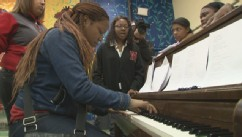 PHOTO: Tyreik Donaldson started his own choir when the music teacher position was cut from the budget at Philadelphias Strawberry Mansion, one of the most dangerous schools in the country.