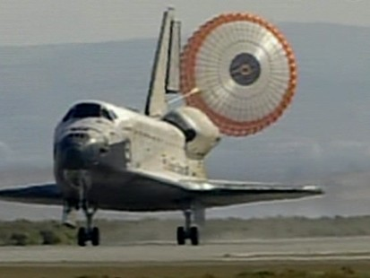 VIDEO:Shuttle Lands Two Days Late