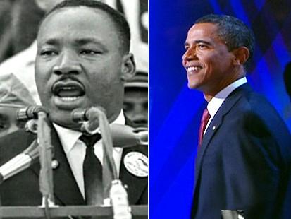 Dr. Martin Luther King and Sen. Barack Obama