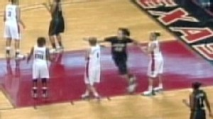 VIDEO: Baylor freshman Brittney Griner throws a punch at a Texas tech opponent.