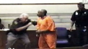 VIDEO: Court deputies take down a defendant who lunged at prosecutors.