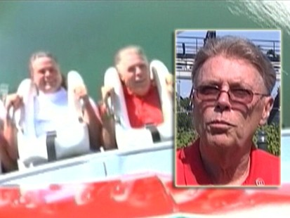 VIDEO: A man challenges TV ad showing a roller coaster rider losing his toupee.
