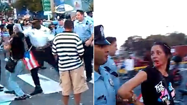 PHOTO: Philly cop punches woman
