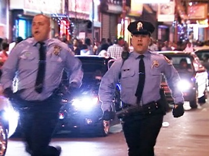 Video: Philadelphia police try to restore order after teens take over streets.