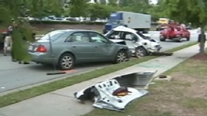 Video: Womans unborn baby killed after high speed chase crash.