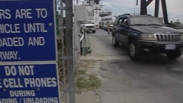 VIDEO: Mandatory evacuations begin for Ocracoke Island in advance of Hurricane Irene.