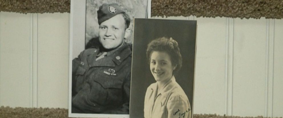 PHOTO: Norwood Thomas recently reunited with Joyce Durrant Morris, a girl he dated while he was deployed outside London, UK during the war, after over 70 years apart.