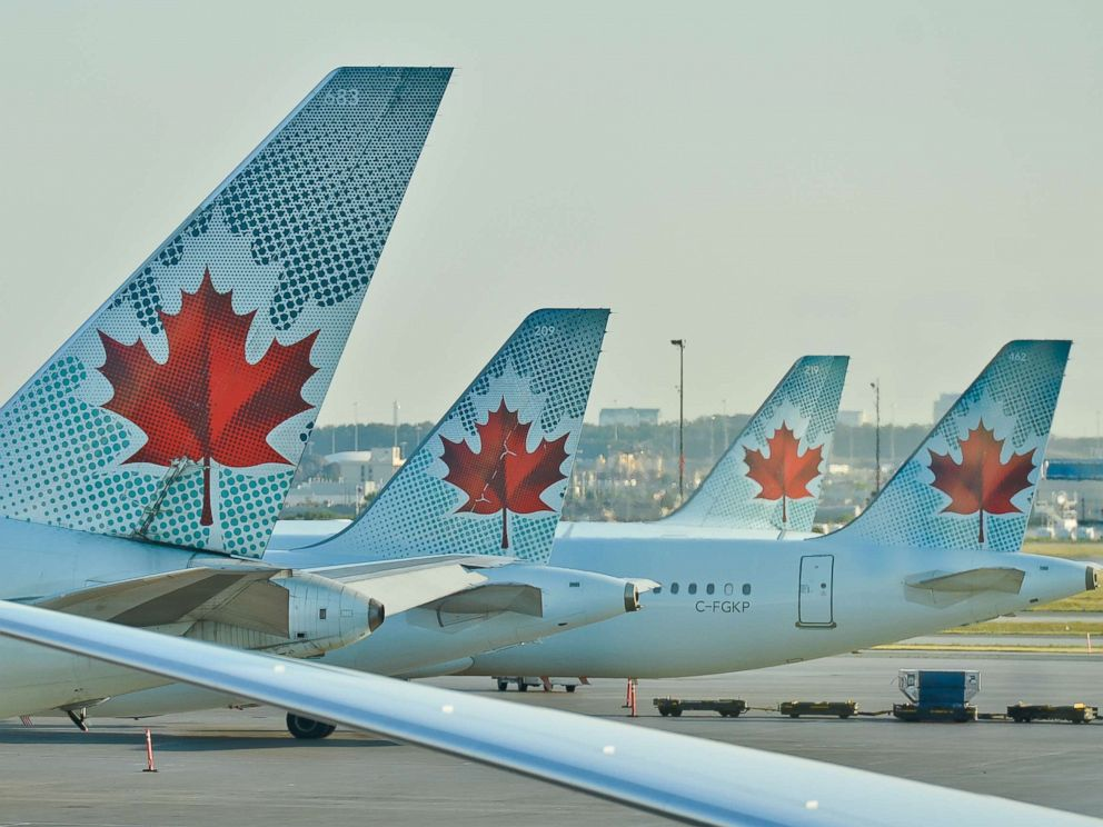 PHOTO: A view of Air Canada planes at Toronto Pearson International Airport, July 2016.
