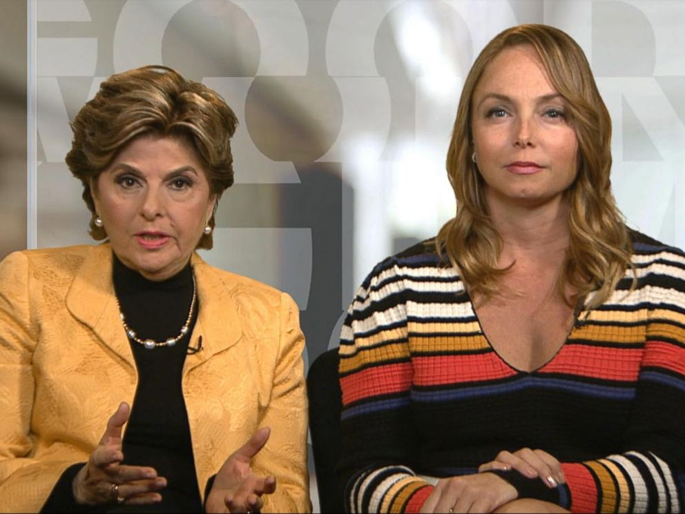 PHOTO: Louisette Geiss, who has accused Harvey Weinstein of unwanted sexual advances, appears on Good Morning America with discrimination attorney Gloria Allred, Oct. 11, 2017.