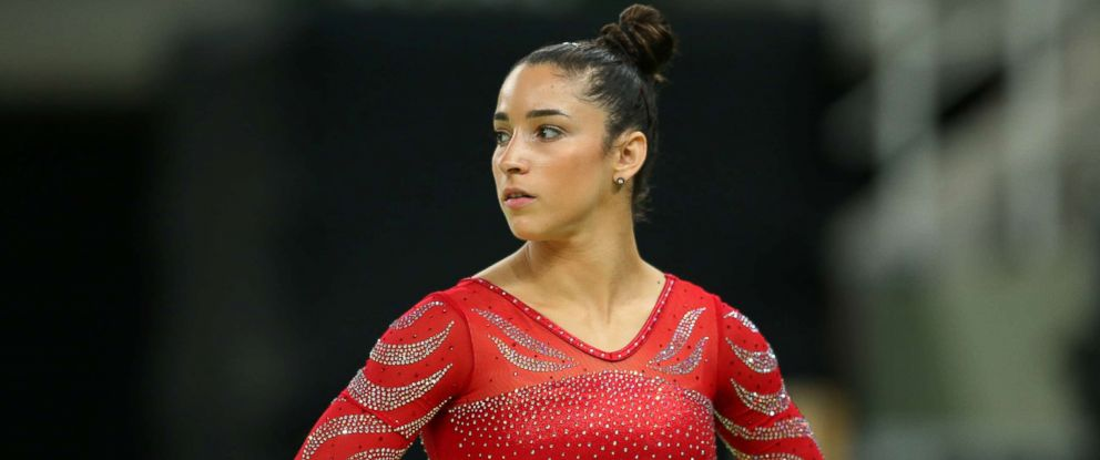 PHOTO: Aly Raisman during an artistic gymnastics training session, Aug. 4, 2016 at the Arena Olimpica do Rio in Rio de Janeiro, Brazil.