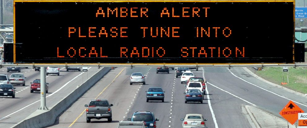 PHOTO: Amber Alert sign is displayed over westbound Highway 401 in this file photo, May 14, 2005.