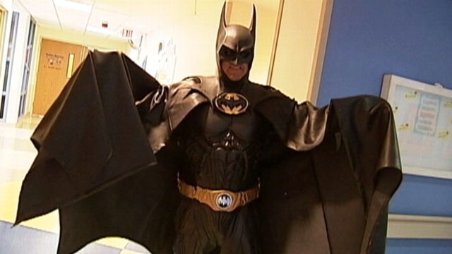VIDEO: Batman impersonator Lenny Robinson is losing gigs at childrens hospitals in the wake of Colorado shootings.