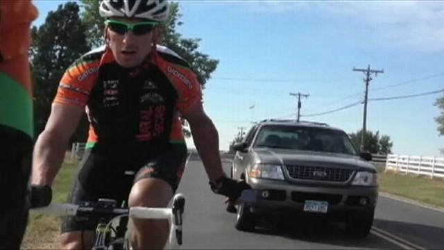 VIDEO: James Ernst, 75, IS seen on video repeatedly honking at cyclists in Colorado.