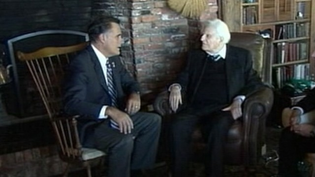 VIDEO: Reclassification follows Mitt Romneys visit to the 93-year-old evangelists home.
