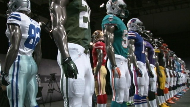 VIDEO: New football jerseys are made of lighter fabric, meant to keep players cool.