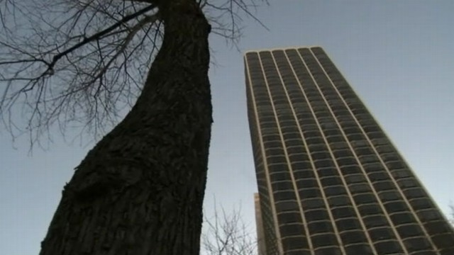 VIDEO: Authorities investigate whether Florence Banta, 80, accidentally fell from her 17th floor apartment.