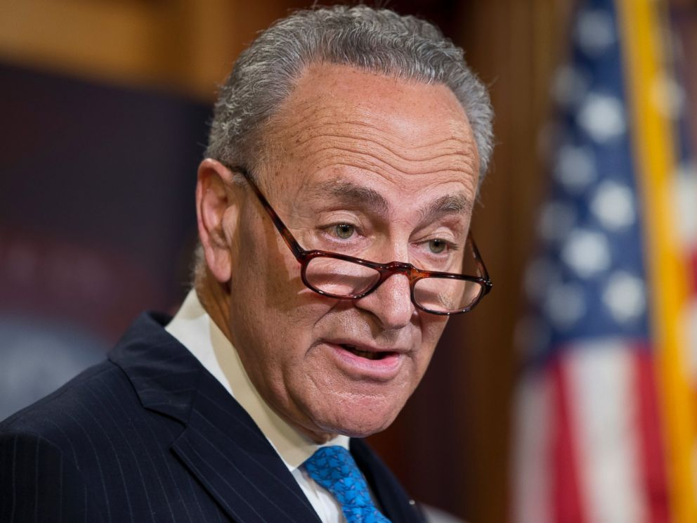 PHOTO: In this June 23, 2016 file photo, Sen. Charles Schumer speaks during a news conference on Capitol Hill in Washington.