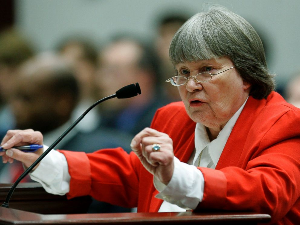 PHOTO: Marion Hammer, representing the National Rifle Association, speaks in favor of a gun bill during a meeting of the House environment and natural resources council, Wednesday, April 18, 2007, in Tallahassee, Fla.