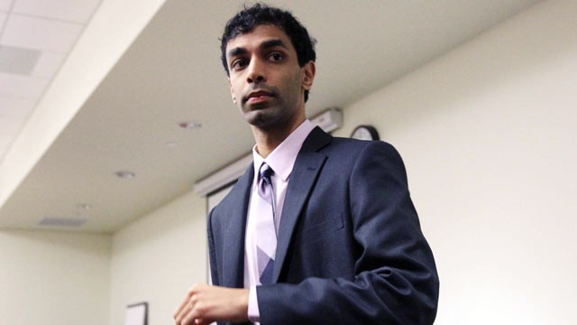 PHOTO: Dharun Ravi, the former Rutgers University student on trial waits during a break, March 8, 2012 in New Brunswick, NJ.