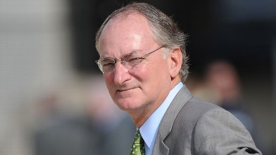 PHOTO: Athletic Director Jack Swarbrick of the Notre Dame Fighting Irish looks on from the sideline before a college football game, Sept. 24, 2011 in Pittsburgh.